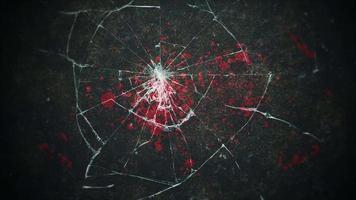mystieke horror achtergrond met donker bloed en bewegingscamera