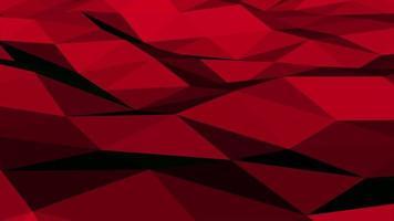 rörelse mörk röd låg poly abstrakt bakgrund video