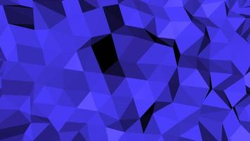 beweging donkerblauwe laag poly abstracte achtergrond video