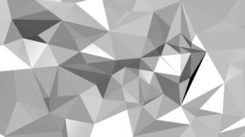 vit abstrakt låg poly bakgrund video