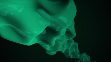 Bewegung dunkelgrüne flüssige futuristische Formen, abstrakter geometrischer Hintergrund