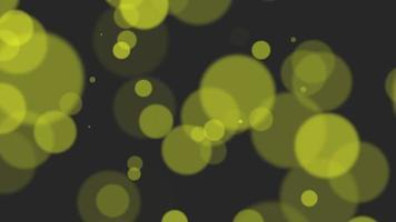 animation mouche abstrait or jaune bokeh et particules sur fond brillant bonne année et thème joyeux noël
