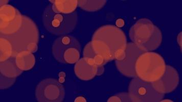 animation mouche abstrait or jaune bokeh et particules sur fond brillant