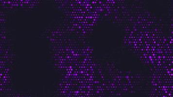 movimento de introdução de pontos roxos geométricos, fundo abstrato