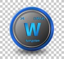 elemento químico de tungsteno vector