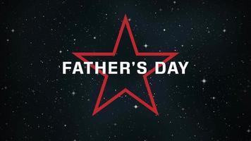 texto de animación día del padre sobre fondo negro de moda y minimalismo con estrella res en galaxia video