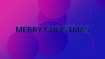 animatietekst vrolijk kerstfeest en beweging abstracte geometrische vormen, memphis achtergrond video