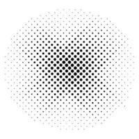 Halftone circles, halftone dot pattern vector