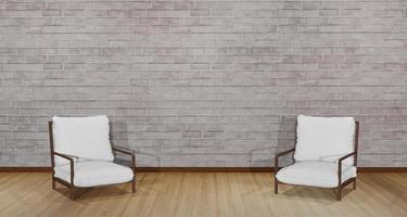 Ilustración 3d de dos sillas una frente a la otra foto