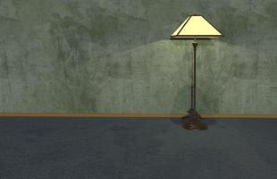 3D illustration backdrops, wooden floor and cement scenery