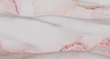 Ilustración 3d de patrón de mármol blanco sobre una superficie ondulada