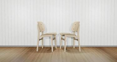Two 3D chairs facing each other