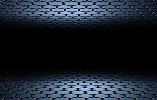 3D illustration of hexagon honeycomb abstract background photo