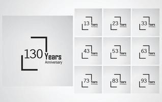 Year Anniversary Vector Template Design Illustration box