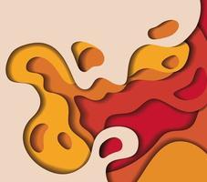 Orange waves background vector design