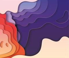 Colorful waves background vector design