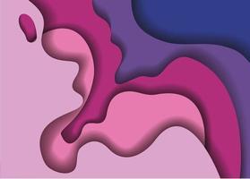 Purple waves background vector design