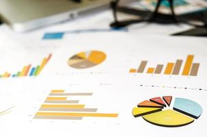 cuadros y gráficos de negocios foto
