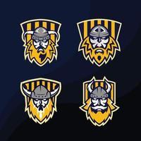 Logo Design of Badge Yellow Viking Bundle vector