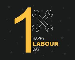 Happy Labour Day Background Vector