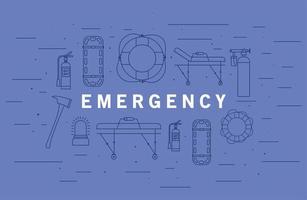 banner de emergencia médica vector