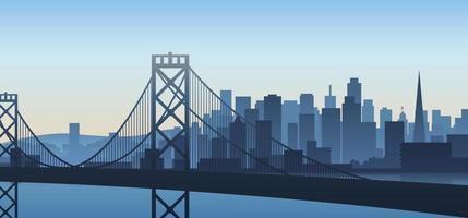 San Francisco cityscape vector