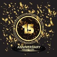 15 year anniversary logo template vector