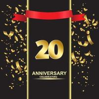 20 Year Anniversary Vector Template Design Illustration