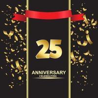 25 Year Anniversary Vector Template Design Illustration