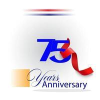 75 Year Anniversary celebration Vector Template Design Illustration