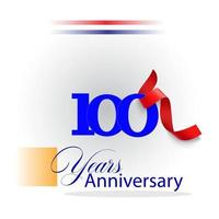 100 Year Anniversary celebration Vector Template Design Illustration