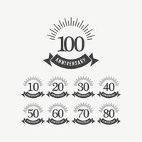 100 Years Anniversary Celebration Vector Template Design Illustration