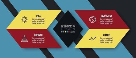 presentación de negocios o plantilla de infografía de marketing. vector