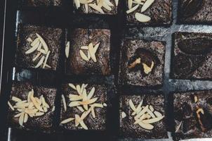 vista superior de brownies foto