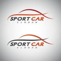 abstract car design concept automotive logo design template vector