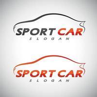 vector de plantilla de logotipo de coche deportivo abstracto