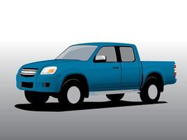 vector de dibujos animados de coche, camioneta de carga