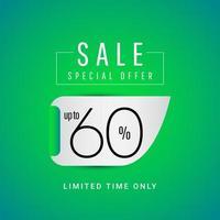 Oferta especial de venta hasta 60 ilustración de diseño de plantilla vectorial solo por tiempo limitado