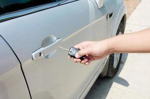 Car keys in hand photo