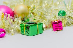 Colorful present decorations