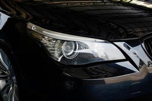 Close-up of a car headlight photo