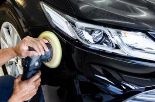 Car polish detailing photo