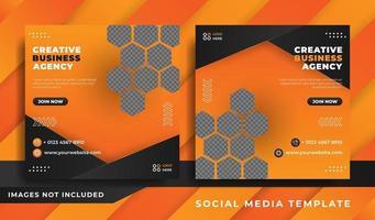 promoción empresarial y plantilla de portada de redes sociales creativas vector
