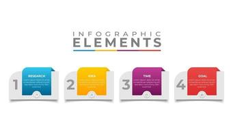 infographic business banner template design vector