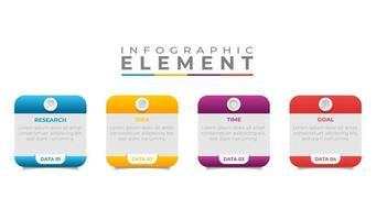 diseño de plantilla de banner de negocios de infografía vector