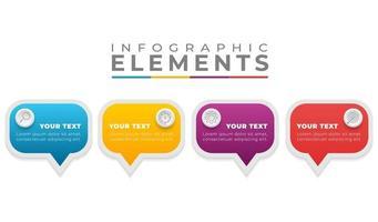 colorido diseño plano pasos infográficos vector