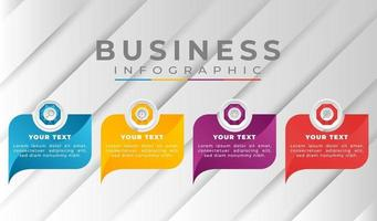 infographic business template with gradient colors vector