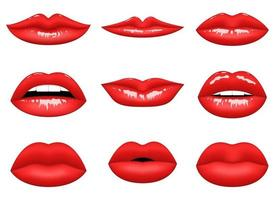 Red woman lips vector design  illustration isolated on white background