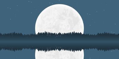 Moon nature landscape background vector design illustration