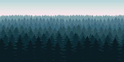 Ilustración de diseño de vector de fondo de paisaje de bosque